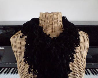 very cool black scarf