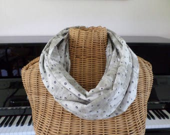 snood scarf made with a cotton voile