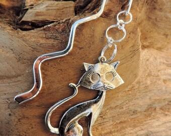 Bookmark, bookmark. Silver Tibetan, feline cat, animal, cat,.