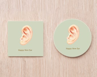 Happy New Ear coaster