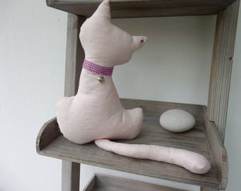 Pink cotton cat home decor