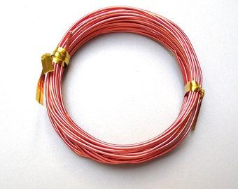 5 Metters Orange 1 mm aluminum wire.