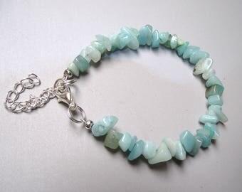 Bracelet beads amazonite 5 x 8 mm.