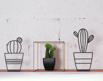 Metal cactus decor, cactus decor, living room decor, office decor,  kids room decor, cactus plant, cactus stand, shelf decor, housewarming