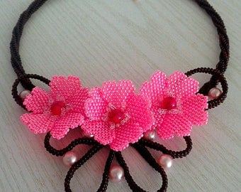 Necklace Blossoming Oriental cherry