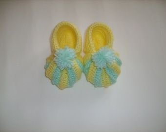 Pumpkin 3/6 month baby booties