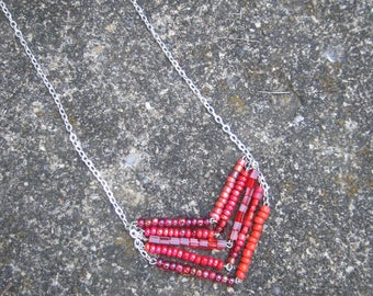 Red Chevron Necklace