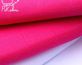 Swaddle blanket for baby plain cotton fuschia pink