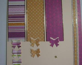 Card 1-2-3 butterflies