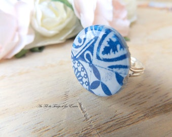 Adjustable round ring : Azulejos of Porto