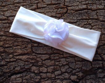 White flower hair band