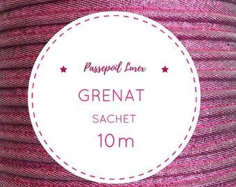 Bag 10 m piping - Garnet lurex