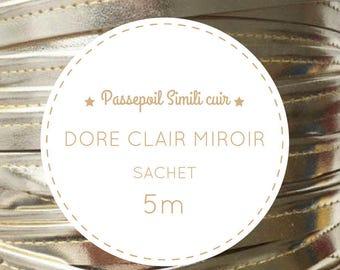 5 m leatherette - light gold metallic piping bag