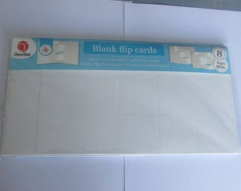 flip 8 blank cards with envelopes
