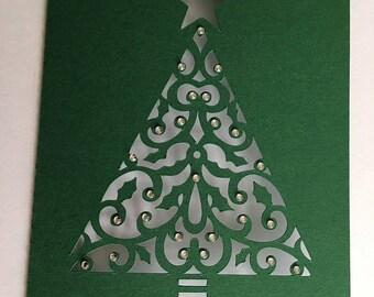 Double Christmas tree card