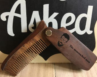 personalized comb,wooden comb,folding comb,engraved comb,custom comb,beautiful comb,bestman gift,groomsmen gift, gift for him,gift for her