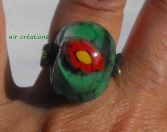 ring spun BAG.0718 Lampwork Glass Bead