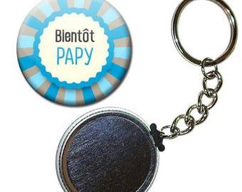 Key Badge 38 mm - soon POPs family birthstone gift