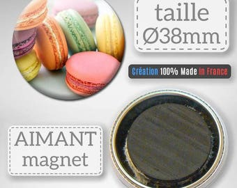 Magnet magnet, cake confectionery sugar gift Badge 38 mm Pinback buttons
