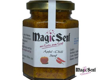 Apple chilli mustard, fruity hot! (3.35 EUR / 100ml)