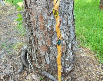 Butterfly twist walking stick