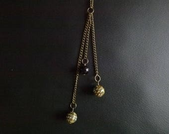 Elegant necklace with 3 rows