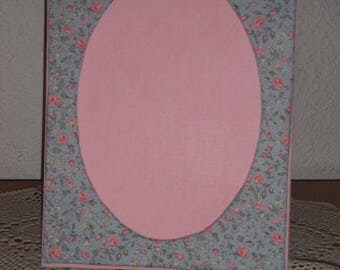 Liberty fabric lining and cardboard picture frame