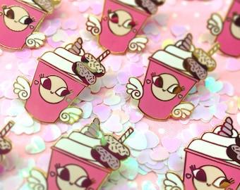 Cute Milkshake Unicorn Enamel Pin
