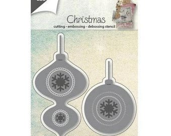 Die cut Joy Crafts two balls of Christmas New