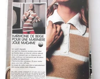 vintage out - March 1974 KNITTING-CROCHET booklet
