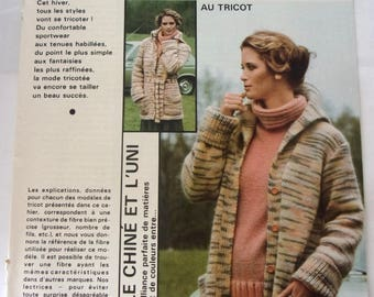 French - knitting and crochet from September 1977 knitting booklet
