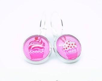 Earring studs treats Cupcake 1