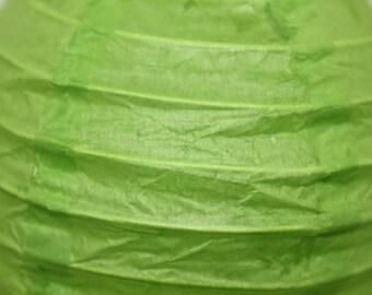 1 x Chinese Lantern/lantern in Apple green paper 10cm