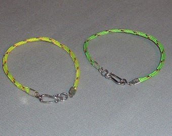 Speckled yellow climbing style rope bracelet