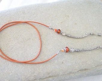 GLASSES cord, jewelry and leather