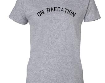 On Baecation Custom Women's Ultra Cotton Gildan Fashion T-Shirt-Sport Gray