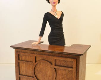 Table for Barbie FR 1:6 1/6 scale diorama NEW table  dollhouse furniture poppy wooden V01