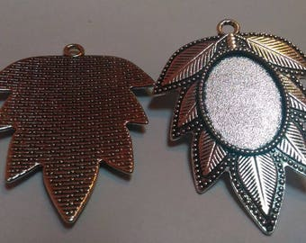 Antique silver charm pendant