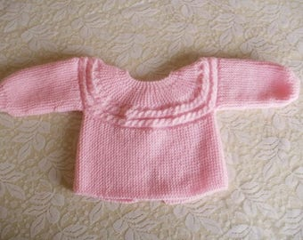 Pink twist for premature baby jacket
