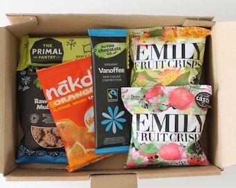 Healthy snack box (Vegan, gluten-free bundle) kids sugar-free treats hamper gift