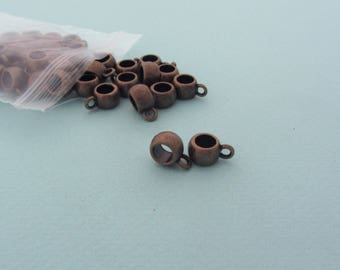 Set of 40 jewelry bails - Bronze metal - Nickel free - Jewelry findings