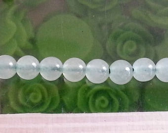 5 beads Aventurine 4 mm in diameter, hole 1 mm