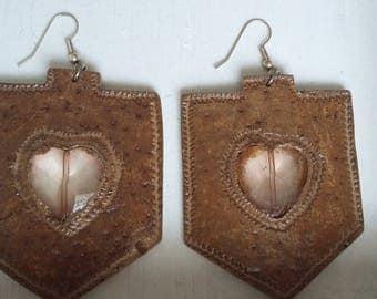 Hexagonal gourd earrings