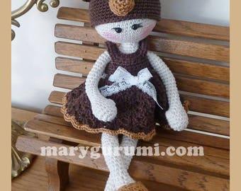 Teddy bear doll, crochet, Amigurumi