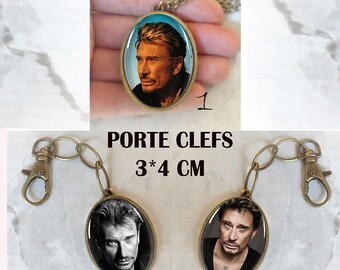 silver lace under Johnny Hallyday glass dome pendant