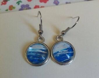 Unique 14mm Silver earrings