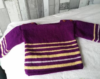 Hand knitted sweater for baby 6 months