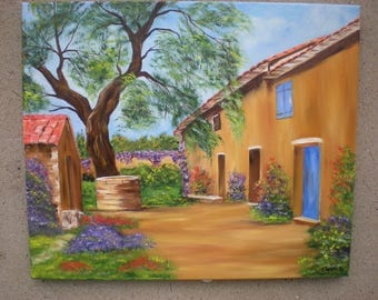 "Painting on canvas ""En Provence"""