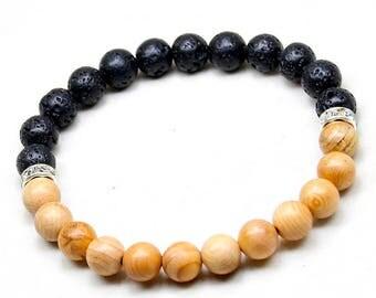 Lava & Wood Bracelet