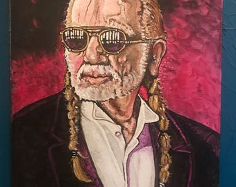 Willie Nelson painting